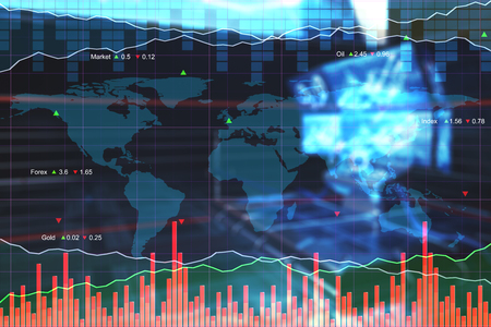Abstract forex chart texture. Finance and investment concept. 3D Rendering