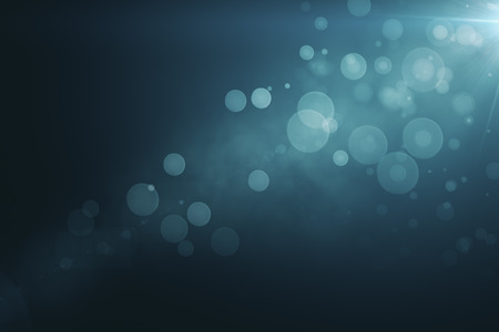 Abstract blurry blue bokeh background. 3D Rendering Stok Fotoğraf