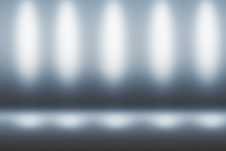 abstract technology lights on grey background suitable for your logo or text. 3D rendering