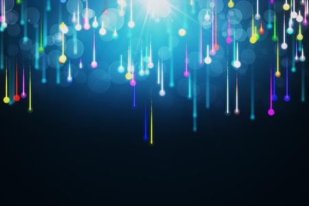 líneas compuestas de fondos brillantes, fondo abstracto. Representación 3D