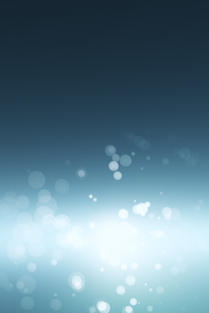 blured water bubbles effect at abstract blue background. 3d rendering