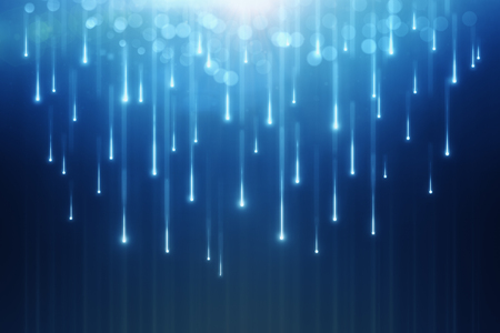 abstract glowing falling drops placed on blue background. 3d rendering Stock fotó