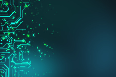 abstract technology board circuit background with space . 3d rendering