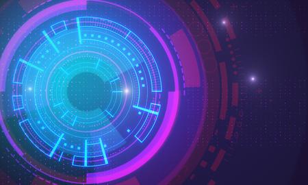 Creative glowing digital business interface backdrop. 3D Rendering