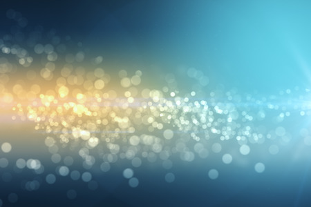 Creative blue bokeh background