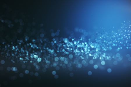 Creative blue bokeh wallpaper