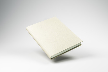 Empty white booknotepad on light background. Education concept. Mock up, 3D Rendering