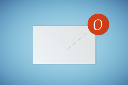 emails on blue background. Communication, network, app and work concept. 3D Rendering Stock Photo