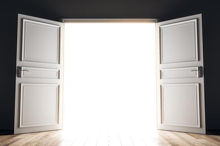 Wide open bright opportunity door. Success and future concept. 3D Rendering Imagens - 108173182