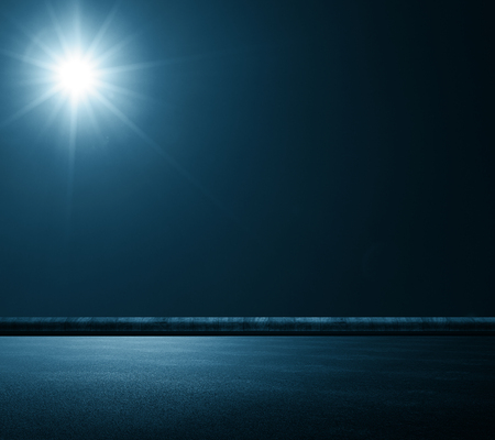 Creative road texture with sun or moon light. Abstract wallpaper design concept