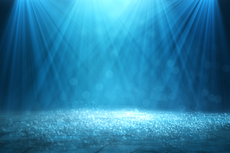 Abstract glowing blurry bokeh spotlight backdrop Stock Photo