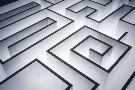 Creative labyrinth background. Challenge and risk concept. 3D Rendering Stock Photo