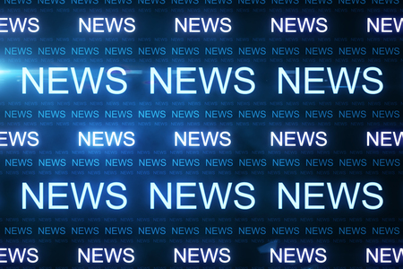 Creative news line wallpaper. Media and content concept. 3D Rendering