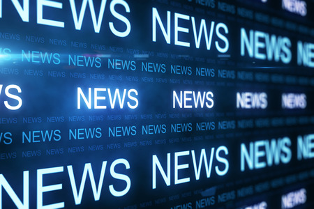 Creative news line background. Media and content concept. 3D Rendering Stock Photo