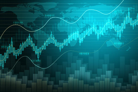 Creative forex chart backdrop. Finance and invest concept. 3D Rendering