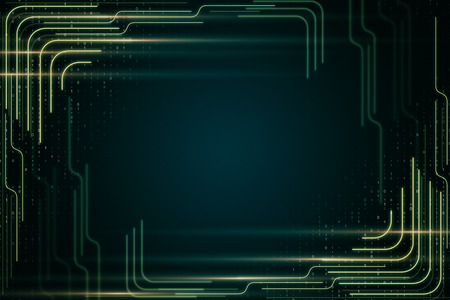 Creative blurry digital backdrop with lines and binary code. Style and web design concept. 3D Rendering 版權商用圖片