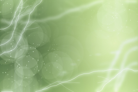 Subtle light bokeh backdrop with abstract lightning and blurry circles. 3D Rendering
