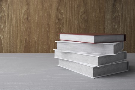 Stack of colorful books. Education Concept. 3D Rendering