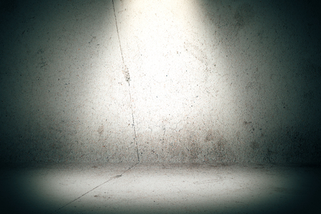Empty concrete wall wallpaper with spotlight. Mock up, 3D Rendering