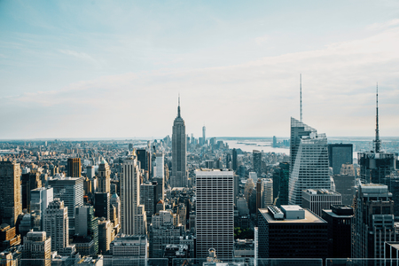 Creative New York city background skyline. Tourism and downtown concept