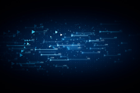 Abstract glowing blue forex chart background with grid. Invest and finance concept. 3D Rendering