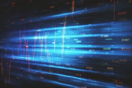 Abstract binary code big data backdrop. 3D Rendering Stock Photo