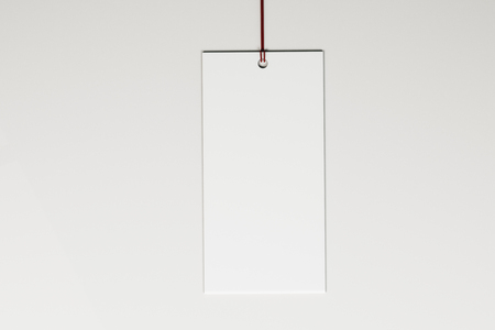 Blank price tag on white background. Shop, sales and trade concept. Mock up, 3D Rendering 写真素材