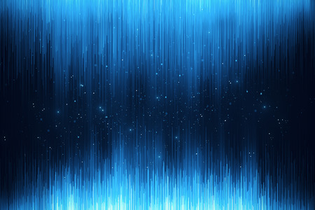 Abstract glowing blue digital backdrop with sparkles and lines. Web design and style concept. 3D Rendering Фото со стока