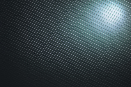 Abstract wallpaper with silver lines and light. 3D Rendering