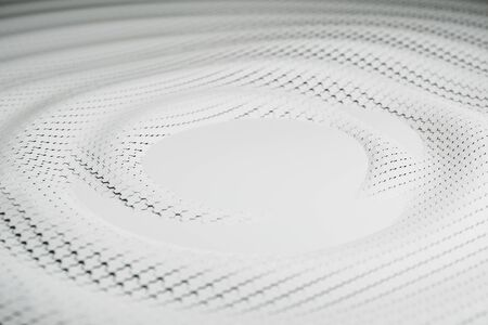 Abstract white metal cells backdrop. 3D Rendering
