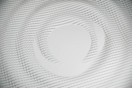 Abstract white metal cells background. 3D Rendering