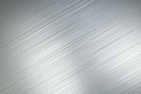 Abtsract background with light grey polished metal diagonal lines with light spots. 3D Rendering Stock Photo