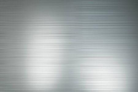 Abtsract-Hintergrund mit hellgrauen horizontalen Linien aus poliertem Metall mit hellen Flecken. 3D-Rendering Standard-Bild