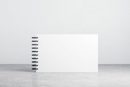 Blank page notebook with clipping path. Business and education concept. 3D Rendering Banco de Imagens