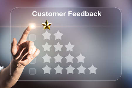 Abstract negative customer feedback background. Ranking concept