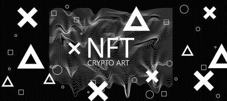 NFT non-fungible tokens concept with NFT crypto art letters