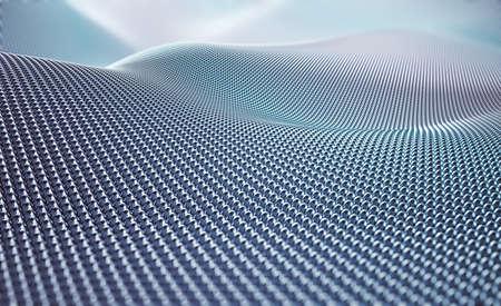 Abstract silver circles mesh.