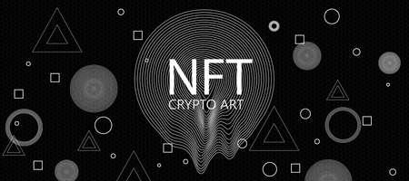 Creative dark crypto art texture. Non-fungible token concept. 3D Rendering 免版税图像