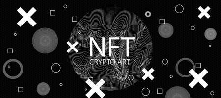 Creative dark crypto art wallpaper.
