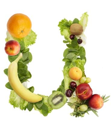 Fruit alphabet - letter u. Isolated on a white background Stock Photo - 10299656