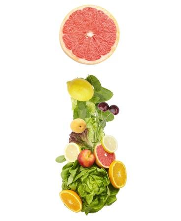 Fruit alphabet - letter i. Isolated on a white background photo