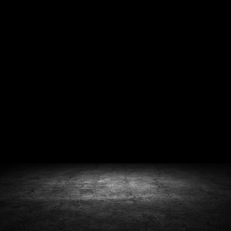 dark room:   1057;oncrete wall  Large concrete wall  Texture  Background  Image of dark concrete wall and floor Stock Photo