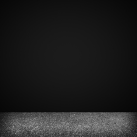 grunge: Background  Image of dark concrete wall and floor