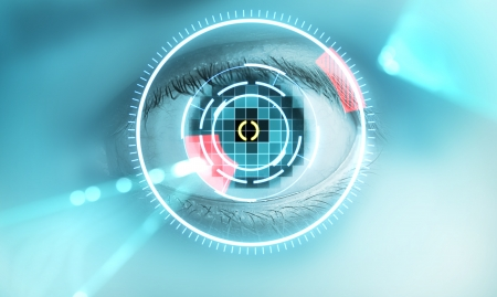 Technology scan mans eye for security photo