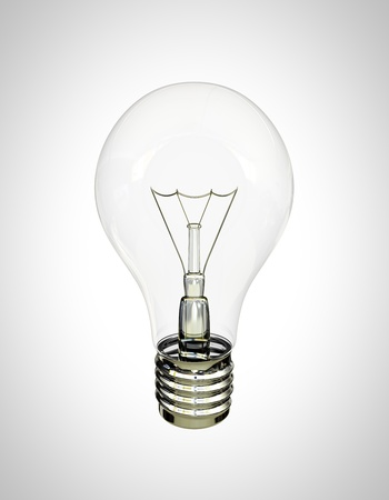 filaments: light bulb on a white background