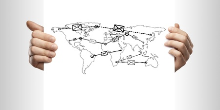thumbnail: map mail forwarder  in hand