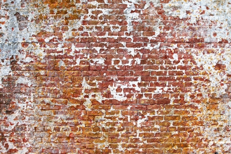 old painted brick wall texture Stock Photo