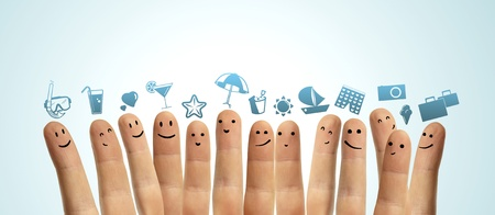 group finger smileys dream of vacation photo