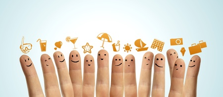 finger smileys dream of vacation photo