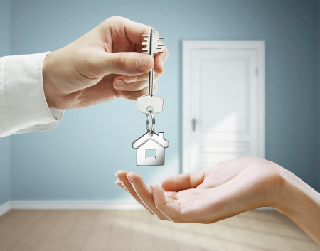 thumb keys: passing keys against backdrop of blue room